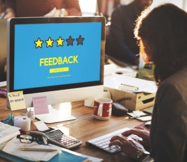 feedback screen with 3 stars