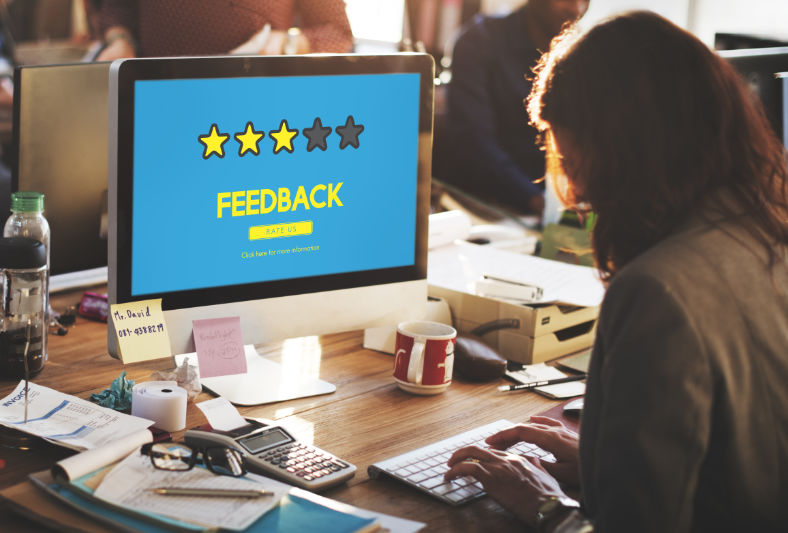 feedback screen with 3 stars