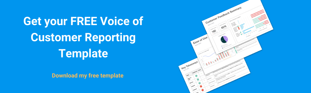 Free Voice of Customer Reporting template